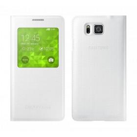 Θήκη Book S-View Samsung EF-CG850BWEGCN για SM-G850F Galaxy Alpha Λευκή