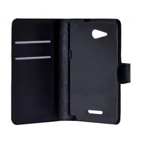 Θήκη Book Ancus Teneo για Sony Xperia E4G/E4G Dual Μαύρη
