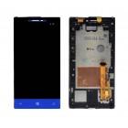 Γνήσια Οθόνη & Μηχανισμός Αφής HTC Windows Phone 8S Μπλέ με Πλαίσιο Original