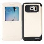 Θήκη Book Goospery Wow Bumper View για Samsung SM-G920F Galaxy S6 Λευκή by Mercury