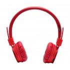 Ακουστικά Stereo NIA Foldable NIA-1682 3.5 mm Κόκκινα με Ραδιόφωνο FM και MP3 Player με Κάρτα Μνήμης Micro SD