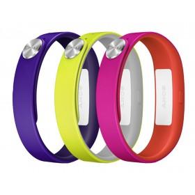 Ανταλλακτικά Λουράκια Sony SmartBand Wrist Strap SWR110 Μώβ, Κίτρινο, Ρόζ