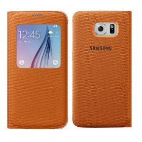 Θήκη Book S-View Samsung Fabric EF-CG920BOEGWW για SM-G920F Galaxy S6 Πορτοκαλί