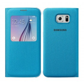 Θήκη Book S-View Samsung Fabric EF-CG920BLEGWW για SM-G920F Galaxy S6 Μπλέ