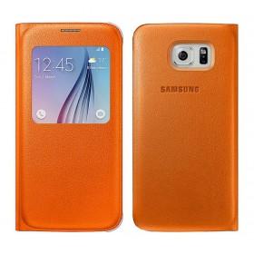 Θήκη Book S-View Samsung EF-CG920POEGWW για SM-G920F Galaxy S6 Πορτοκαλί