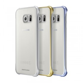 Θήκη Faceplate Samsung Clear Cover EF-QG920BKEGCN για SM-G920F Galaxy S6 Μαύρο - Χρυσό - Ασημί