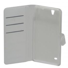 Θήκη Book Ancus Teneo για Sony Xperia C4/ C4 Dual TPU Λευκή