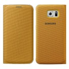 Θήκη Book Samsung Flip Wallet Fabric EF-WG920BYEGWW για SM-G920F Galaxy S6 Κίτρινη