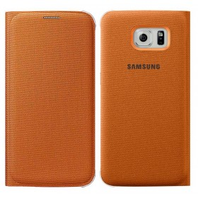 Θήκη Book Samsung Flip Wallet Fabric EF-WG920BOEGWW για SM-G920F Galaxy S6 Πορτοκαλί