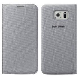 Θήκη Book Samsung Flip Wallet Fabric EF-WG920BSEGWW για SM-G920F Galaxy S6 Ασημί