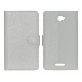 Θήκη Book Ancus Teneo για Sony Xperia E4/E4 Dual TPU Λευκή