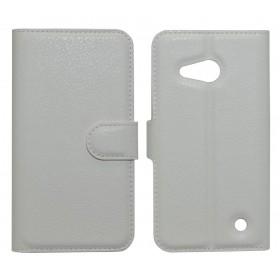 Θήκη Book Ancus Teneo για Microsoft Lumia 550 TPU Λευκή