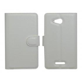 Θήκη Book Ancus Teneo για Sony Xperia  E4G/E4G Dual TPU Λευκή