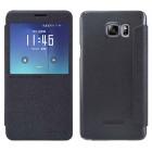 Θήκη Book S-View Nillkin Sparkle Leather για Samsung SM-N920F Galaxy Note 5 Μαύρη με ενεργό S-View