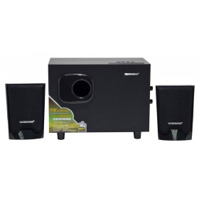 Ηχείο Stereo Multimedia Vaensong V-T100U 2.1 5W+3Wx2 RMS Μαύρο με Θύρα USB, SD 9.3x18.5x14cm