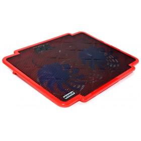 Laptop Cooler Mobilis K17 Κόκκινο για Φορητούς Υπολογιστές έως 15.6
