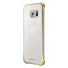 Θήκη Faceplate Samsung Clear Cover EF-QG920BFEGWW για SM-G920F Galaxy S6 Διάφανο - Χρυσό