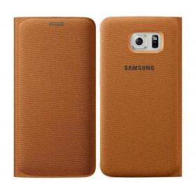 Θήκη Book Samsung Flip Wallet Fabric EF-WG925BOEGWW για SM-G925F Galaxy S6 Edge Πορτοκαλί