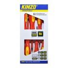 Κατσαβίδια Kinzo 72027 Σέτ 6 Τεμαχίων Μαγνητικά Κόκκινο - Κίτρινο