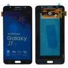 Γνήσια Οθόνη & Μηχανισμός Αφής Samsung SM-J710 Galaxy J7 (2016) Μαύρο GH97-18855B, GH97-18931B