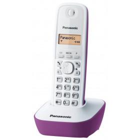 Ασύρματο Ψηφιακό Τηλέφωνο Panasonic KX-TG1611 (EU) Λευκό-Μώβ