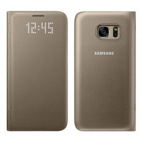 Θήκη Book Samsung Led View Cover EF-NG930PFEGCN για SM-G930F Galaxy S7 Χρυσαφί