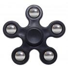 Fidget Spinner ABS Plastic 5 Leaves Μαύρο 2.5 min