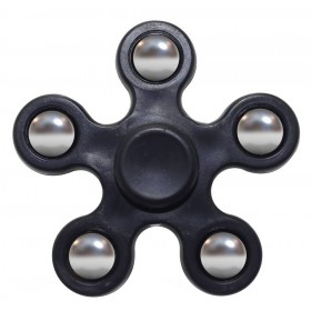 Fidget Spinner ABS Plastic 5 Leaves Μαύρο 2.5 min