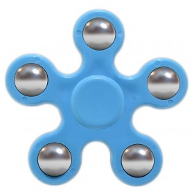 Fidget Spinner ABS Plastic 5 Leaves Μπλέ 2.5 min