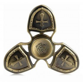 Fidget Spinner Metal Medieval 3 Leaves Χρυσαφί 4 min