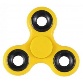 Fidget Spinner ABS Plastic 3 Leaves Κίτρινο 2.5 min