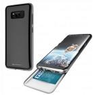 Θήκη Faceplate Goospery The Hidden Card για Samsung SM-G955F Galaxy S8+ Μαύρη-Διάφανη by Mercury