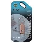 USB 2.0 MIQI Flash Drive X6 4GB Χρυσαφί Ρόζ Metal