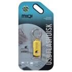 USB 2.0 MIQI Flash Drive X6 4GB Χρυσαφί Metal
