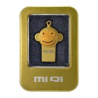 USB 2.0 MIQI Flash Drive M1 4GB Χρυσαφί Metal