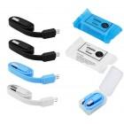 Καλώδιο σύνδεσης Jasper Candy USB σε Micro USB 20cm Σετ 4 Τεμ Διάφορα Χρώματα