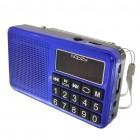 Φορητό Ραδιόφωνο Noozy S24 3W Μπλέ με Υποδοχή USB, Κάρτα Μνήμης, Audio-in και Επαναφορτιζόμενη Μπαταρία