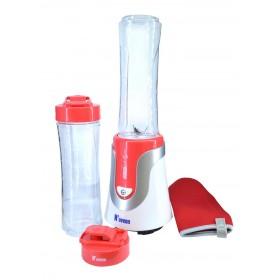 Μπλέντερ NOVEEN Sport Mix & Fit SB-560 με Δύο Φιάλες 600 ml και Αθλητική Θήκη 300W Κόκκινο