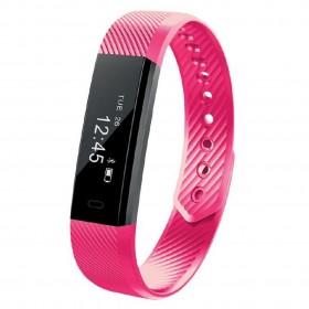 Maxcom Smartband FitGo FW10 Active IP55 Ροζ Silicon Band