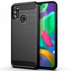 Θήκη TPU Ancus Carbon Series για Samsung SM-M315F Galaxy M31 Μαύρη