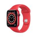 Apple Watch Series 6 GPS M00M3TY/A 44mm Aluminum Case με Sport Band Κόκκινο