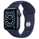 Apple Watch Series 6 GPS M00M3TY/A 40mm Aluminum Case με Sport Band Μπλέ